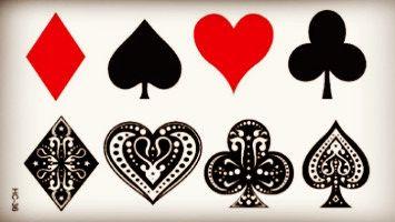Классическая Красное Сердце Черный Клуб Боди-Арт Красота Макияж Водонепроницаемый Временные Татуировки Наклейки