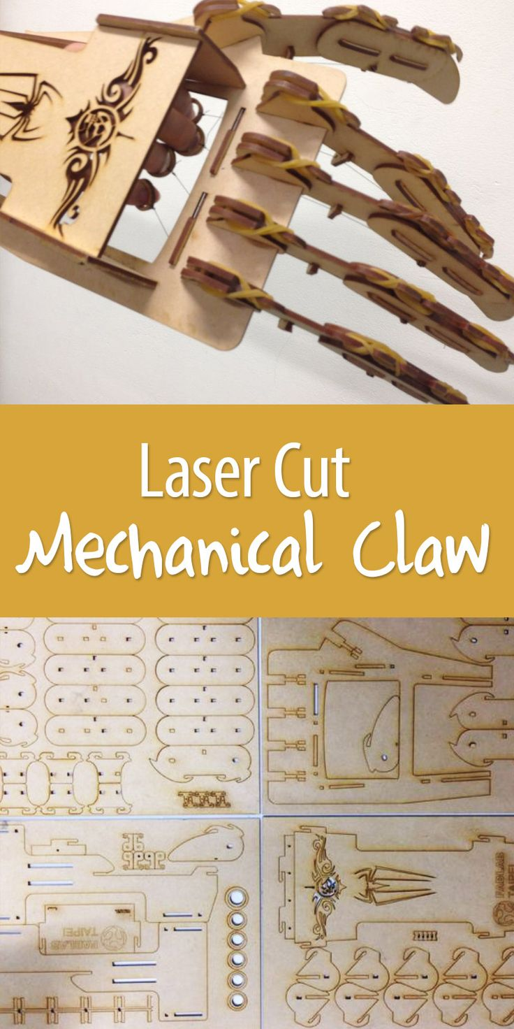 24 Best Images On Pinterest Circuit Bent Modified Toy Festival Ponoko Laser Cut Mechanical Claw