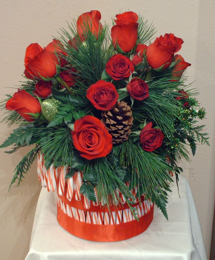 Holiday Centerpieces using candy canes