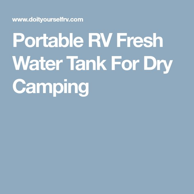 Portable RV Fresh Water Tank For Dry Camping