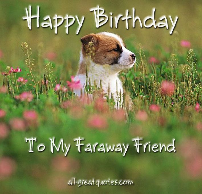 20 Birthday Wishes For A Friend Pin And Share: Happy Birthday To My Faraway Friend