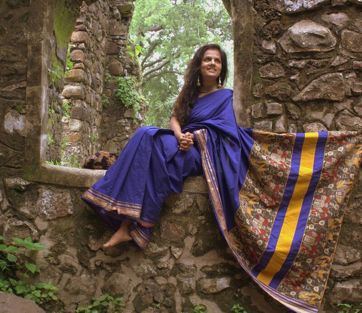Kalamkari and mangalgiri cotton always works magic.  One of my favourite saris