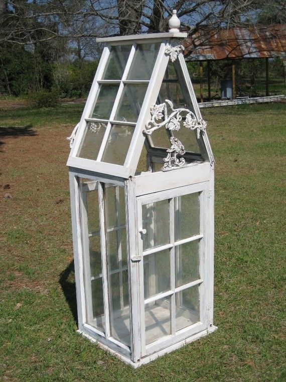 Tabletop Greenhouse of Vintage Windows