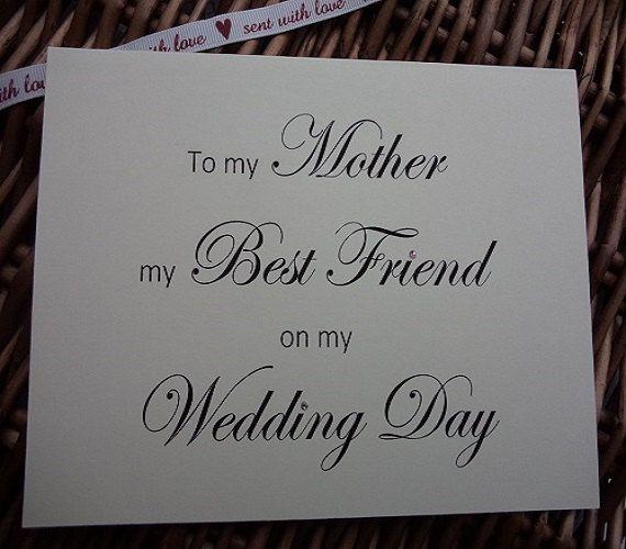 Wedding card to my mother my best friend by WendysWeddingCorner