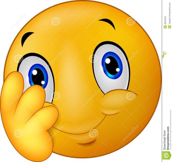Smiley timido dell emoticon del fumetto