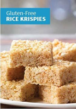 Rice Krispies Gluten-Free Treats – Made with Rice Krispies Gluten-Free cereal, gluten-free marshmallows, and margarine, this recipe lets your kids enjoy the timeless taste of Rice Krispies Treats.