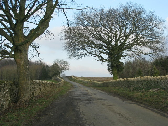 The old walled roads of the Cotswolds in England.