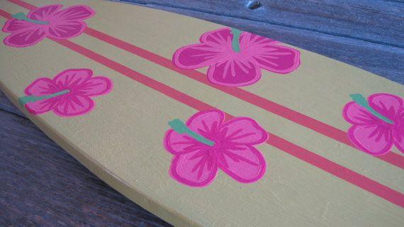 Decoración de la pared de tabla hawaiana con por TheBeachCollection