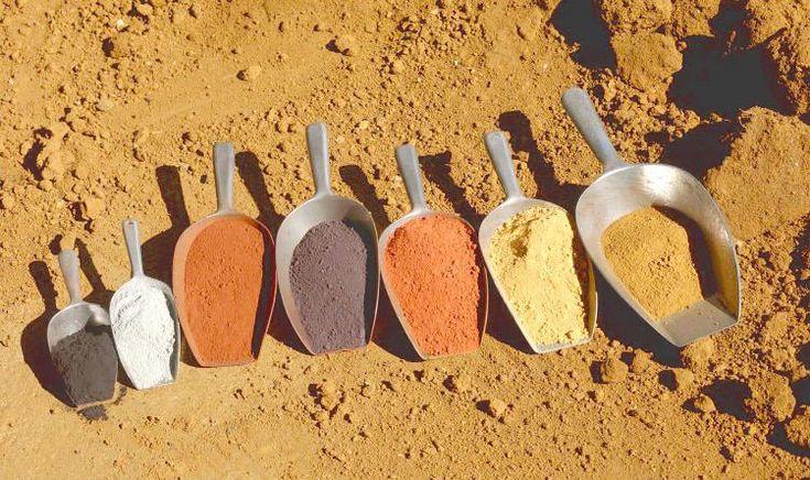 Nuancier pigments naturels