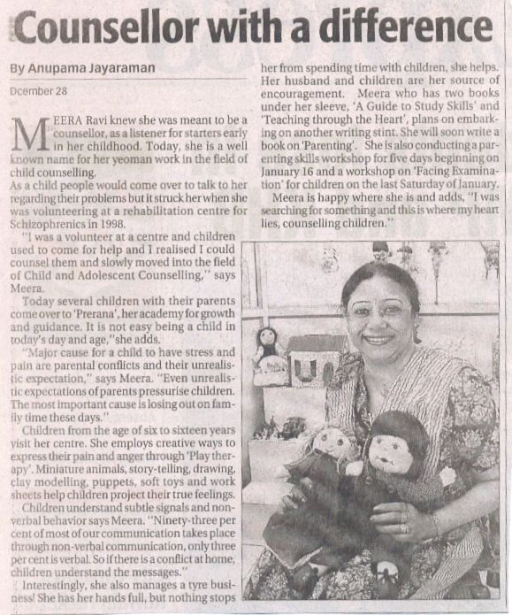 #counsellor with a difference.. Article in #Newspaper