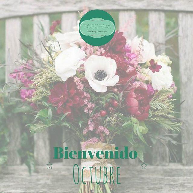 Qué mejor que recibir $Octubre, en sábado y con esta combinación de colores ❤ #Buenosdías Toscanas!  #BienvenidoOctubre #BeToscana #holaoctubre #tocados #invitadas #bodas #ramosdenovia