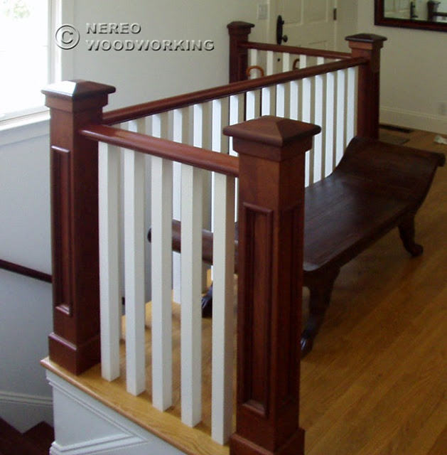 CRAFTSMAN HOME Interior Staircase - love this style for my dream home