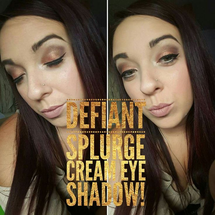 Youniques splurge cream eye in defiant my new favorite color!! With smokey eye from palette 1 ! #younique #creameyeshadow #defiant   Purchase below or contact me to talk about prices :) find me on Facebook  -amandaa chicoski or younqiue by amandaa  www.youniqueproducts.com/amandaasbeauty
