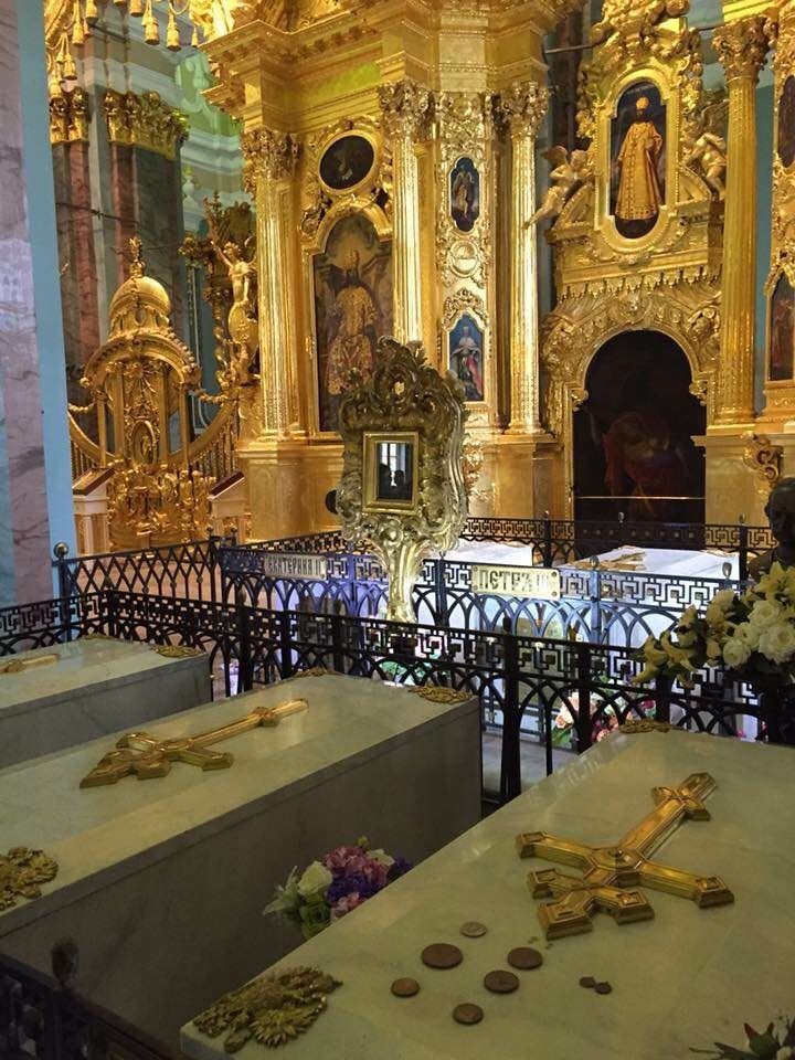 Romanov tombs in St Petersburg Cathedral