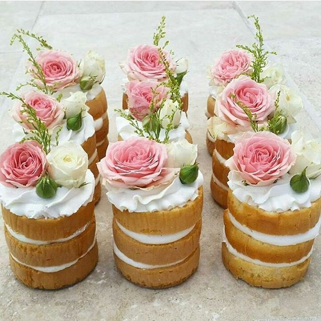 individual naked wedding cakes  #nakedweddingcake #ArthursJewelers