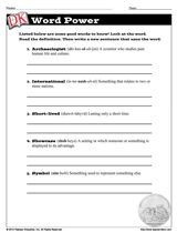 Students can practice vocabulary relevant to the modern Olympic Games by reading the definition and using the word in a sentence they create. http://www.teachervision.fen.com/vocabulary/printable/72027.html