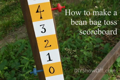 How to Make a Bean Bag Toss {Cornhole} Scoreboard | DIY Show Off ™ - DIY Decorating and Home Improvement Blog