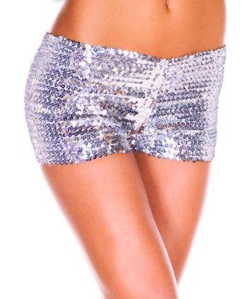 HEROSKY Womens Glitter Shorts Sequin Sexy Shinning Dance Jazz Sparkle Shorts