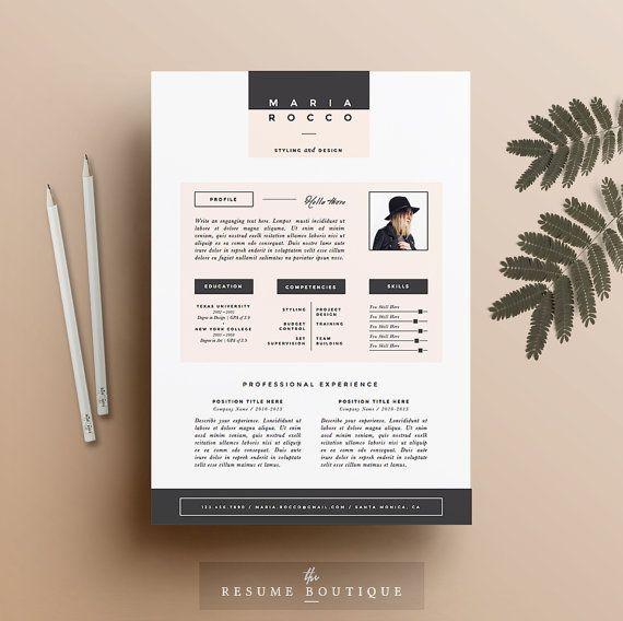 "3pk Resume / CV Template + Cover Letter for MS Word | Instant Digital Download | The ""Modernista"""