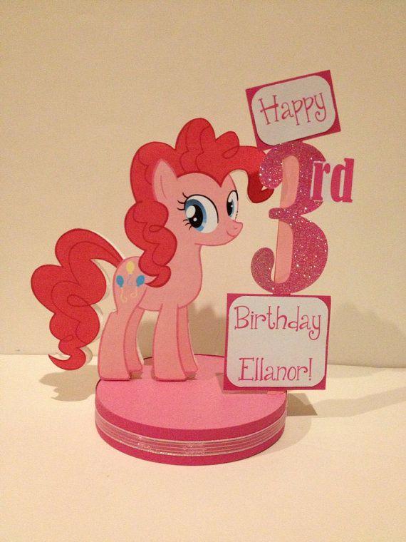 My Little Pony Pinkie Pie Custom Birthday Party Centerpiece