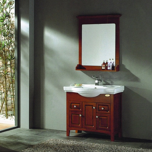 36 By 18 Solid Wood Modern Contemporary Design Bathroom Vanity Cabinet With Mirror Ebay
