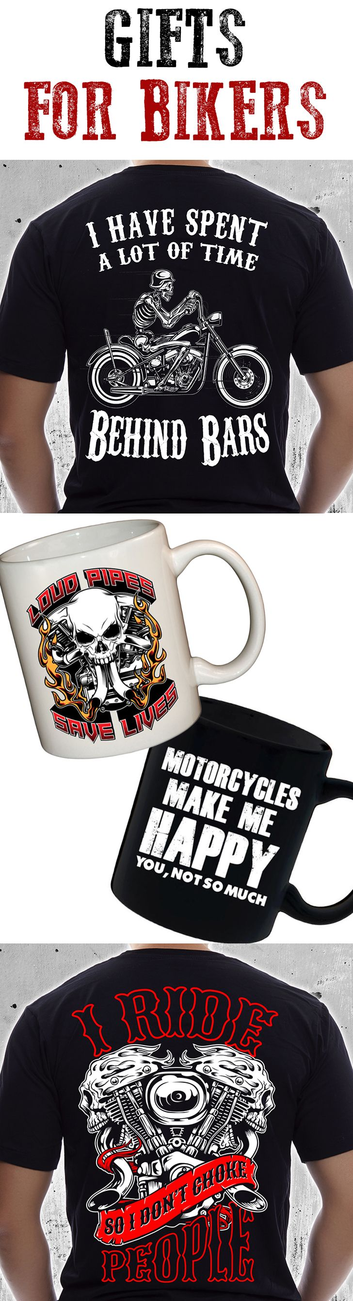 Awesome site for finding gifts for bikers and motorcyclists. Funny biker t-shirts, mugs, and more! Check out SkullSociety.com