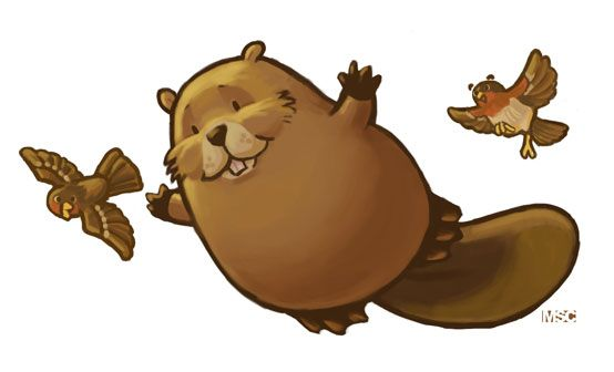flying beaver | ... original looked more like a falling groundhog than a flying beaver :D