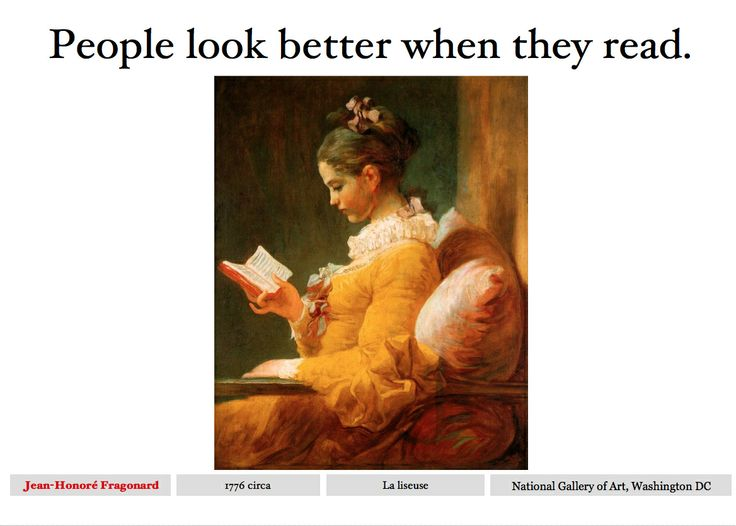 People look better when they read.