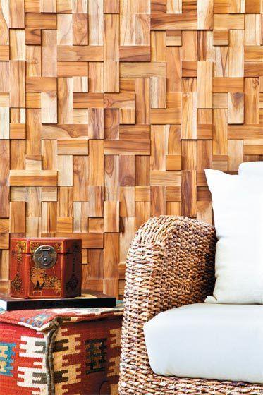 Revestimiento muro madera decoraci n pinterest for Revestimiento interior madera