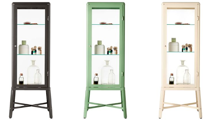 This gorgeous vitrine IKEA cabinet called FABRIKÖR is available from April