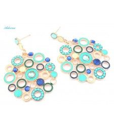 Blue Flower Bohemian Earrings