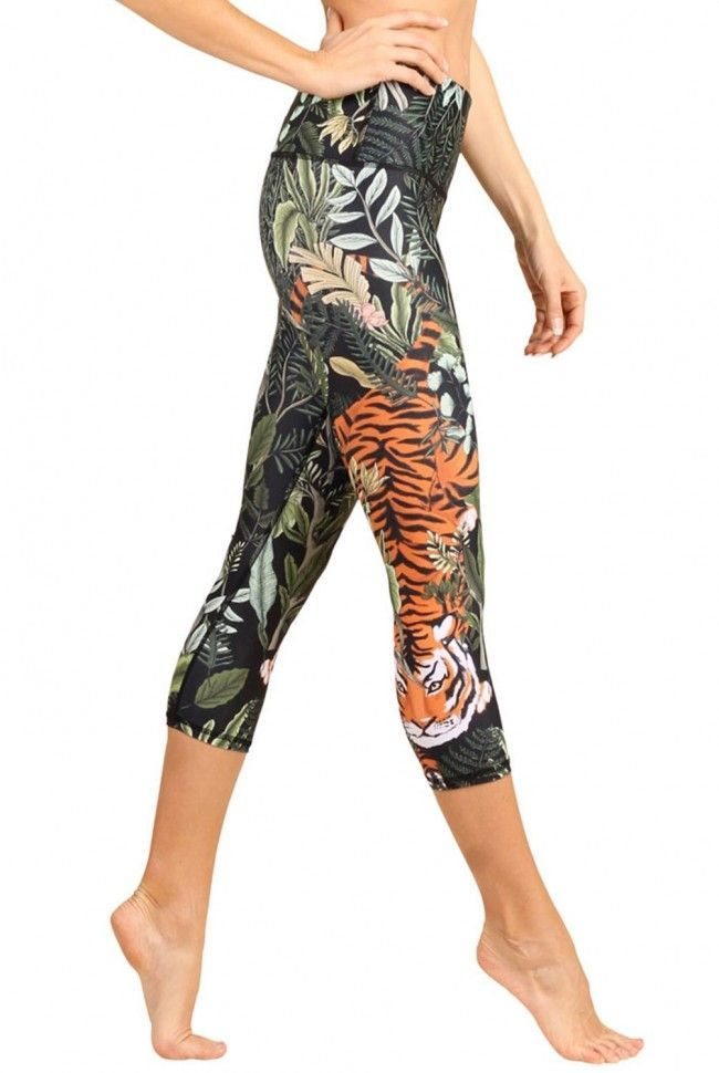 a29830cd6afb1a Add fierce style to your wardrobe with the Rawr Talent Cropped Legging from  Yoga Democracy. Featuring a wide high-rise waistband, this cropped legging  lends ...