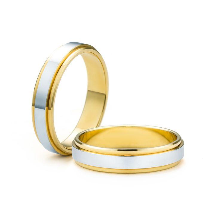 SAVICKI - Obrączki ślubne: Obrączki z dwukolorowego złota (Nr 47) - Biżuteria od 1976 r.