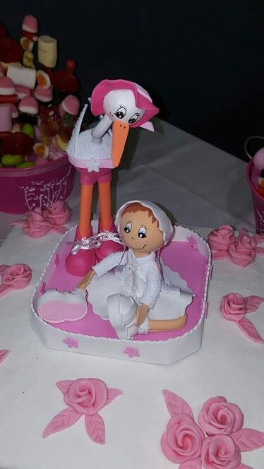 Cigüeña y bebé tarta