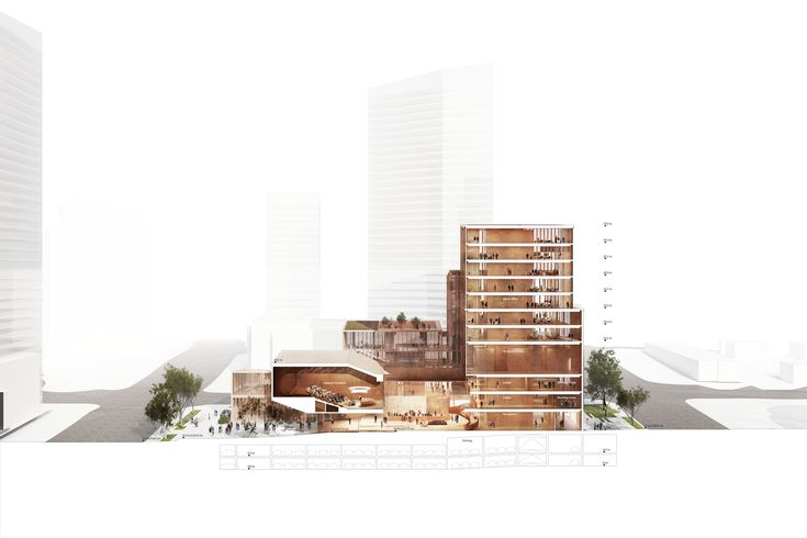 Gallery of Henning Larsen Wins Competition for Microclimate-Creating Civic Center in Toronto - 12