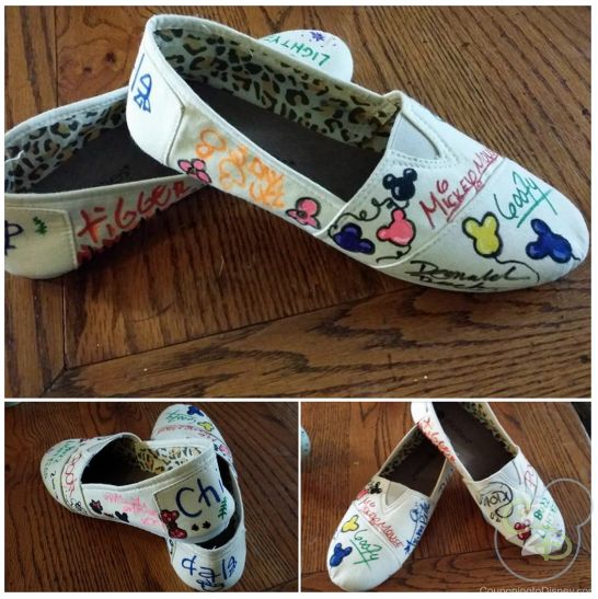 Have the characters autograph canvas shoes on your next trip!