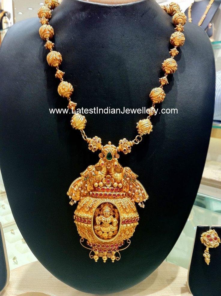 Lakshmi Peacock Design Temple Haram
