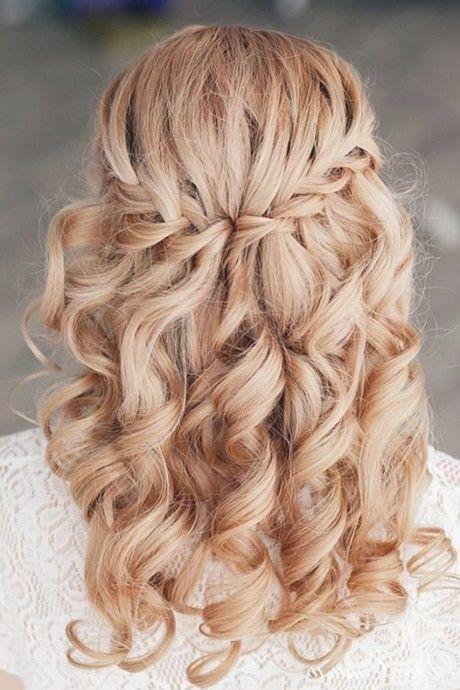 Festliche Frisuren Lange Haare Offen Locken Hochzeit Halboffen