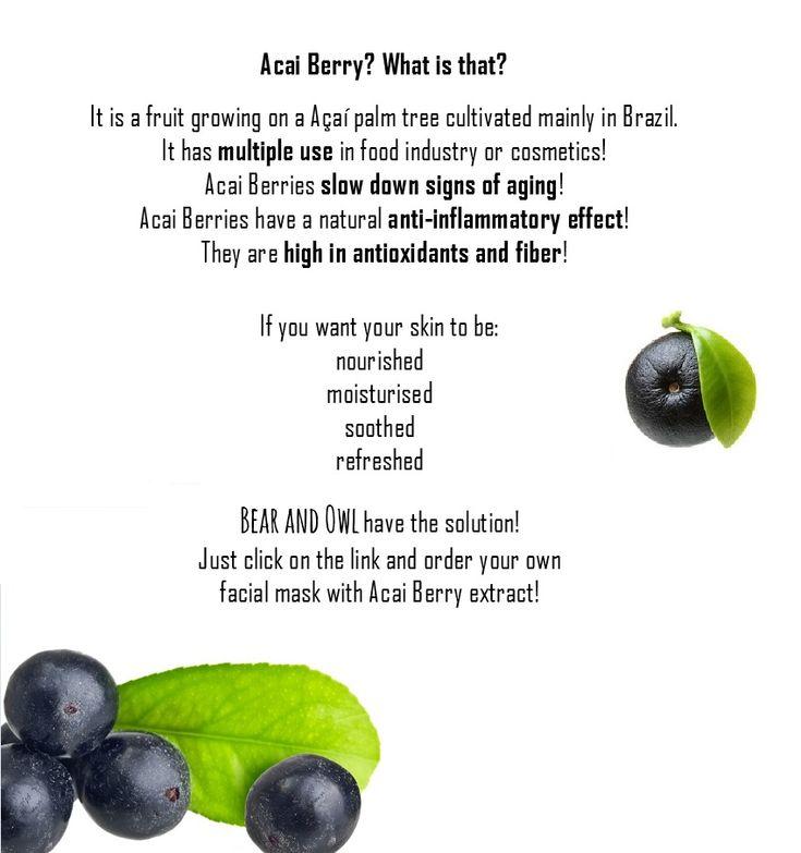 Acai Berry Facts and Benefits, Holika Holika Mask Sheet.