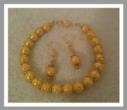 Gold plated ball set