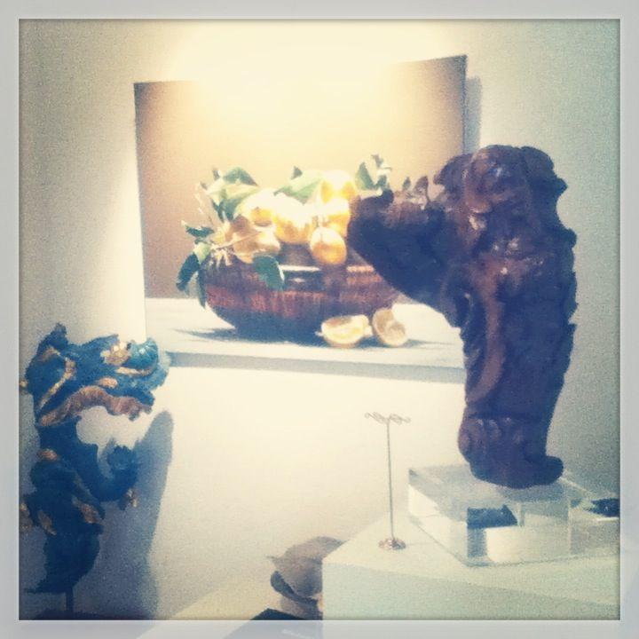 My sculptures Ondina and Nereide in an art Exhibition in Cortina (Bottega d'Arte Gallery). Art makes you dream!!!  www.enricabarozzi.it
