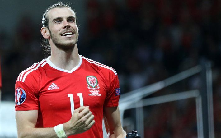 Gareth Bale, goal, footballers, Wales National Team, football stars