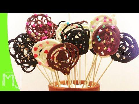 BÁSICOS | Cómo hacer piruletas de chocolate - YouTube