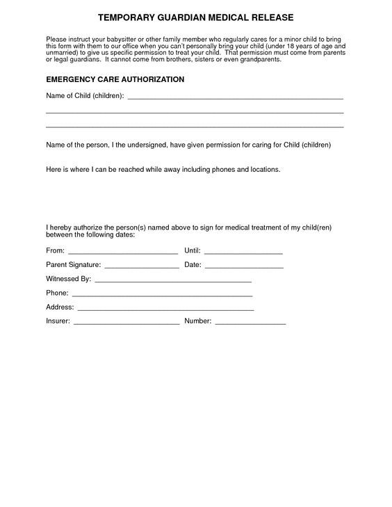 13 best Summer Safety With Kids At Play images on Pinterest - medical consent form template