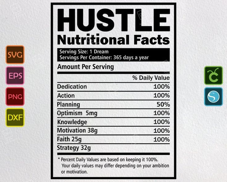 Hustle svg nutritional facts png mom life design lady boss
