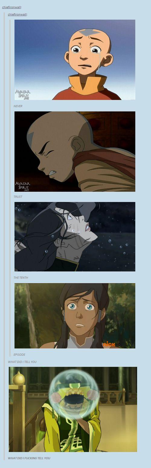 Legend of Korra/ Avatar the Last Airbender: Never trust the tenth episode