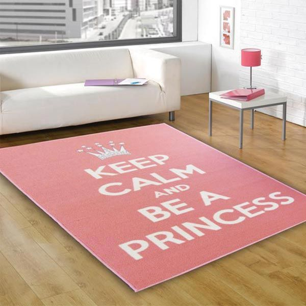 Keep calm & be a princess rug for kids bedroom accessories