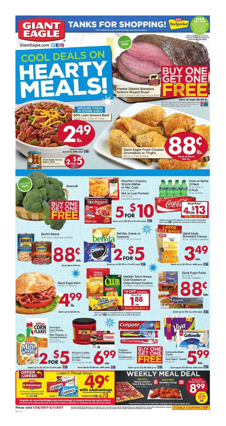 Giant Eagle Weekly Ad January 26 - February 1, 2017 - http://www.olcatalog.com/grocery/giant-eagle-weekly-ad.html