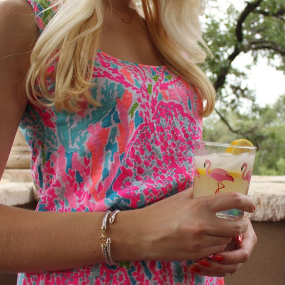 lemonade libations on the patio in my lilly pulitzer dress
