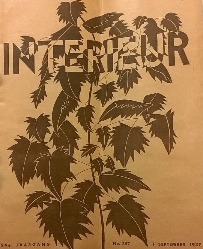 Interieur : geïllustreerd tijdschrift voor woning-inrichting, jaren 1934-1937 {available in library TextielMuseum} #artdeco #gaphicdesign